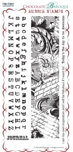 Edgy Edges Rubber Stamp sheet - DL