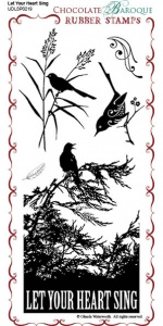 Let your Heart Sing Rubber Stamp Sheet - DL