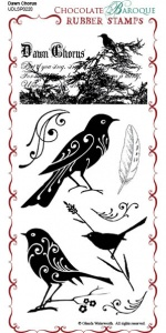 Dawn Chorus Rubber Stamp Sheet - DL