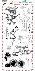 Nature Table Rubber Stamp Sheet - DL