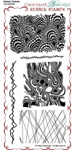 Modern Textures Rubber Stamp Sheet - DL