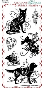 Swirly Pets Rubber Stamp Sheet - DL