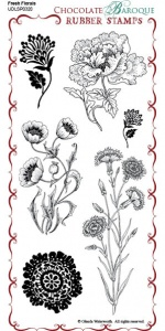 Fresh Florals Rubber Stamp Sheet - DL