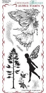 February Fairy Rubber Stamp sheet - DL