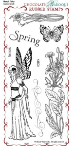 March Fairy Rubber Stamp sheet - DL