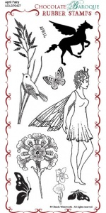 April Fairy Rubber Stamp sheet - DL