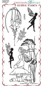 August Fairy Rubber Stamp sheet - DL