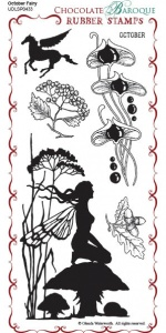 October Fairy Rubber Stamp sheet - DL