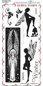 December Fairy Rubber Stamp sheet - DL