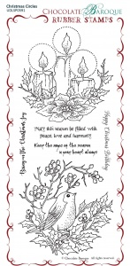 Christmas Circles Rubber Stamp sheet - DL