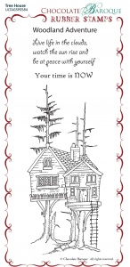 Tree House Rubber Stamp sheet - BM