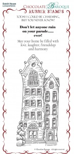 Dutch House Rubber Stamp sheet - BM