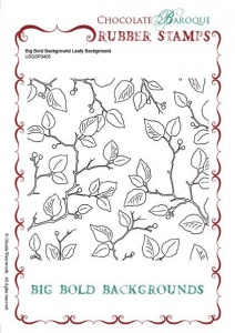 Big Bold Background Leafy Background Single Rubber stamp