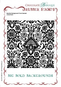 Big Bold Background Floral Damask Single Rubber stamp