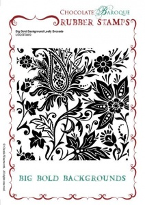 Big Bold Background Leafy Brocade Single Rubber stamp