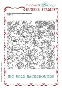Big Bold Background Wildflower Single Rubber stamp