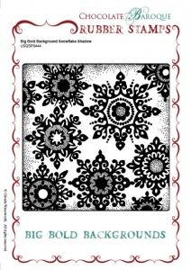 Big Bold Background Snowflake Shadow Single Rubber stamp