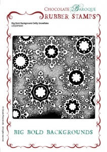 Big Bold Background Dotty Snowflake Single Rubber stamp