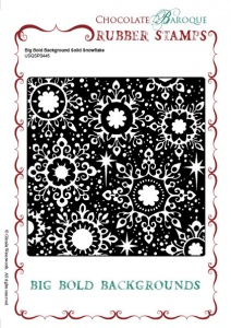 Big Bold Background Solid Snowflake Single Rubber stamp