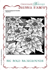 Big Bold Background Poinsettia Single Rubber stamp