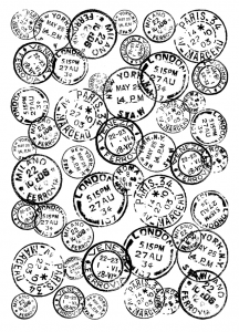 Crafty Individuals - Vintage Postmarks Background