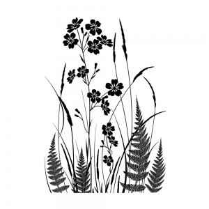 Crafty Individuals - Wild Flowers and Ferns Silhouette