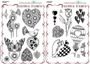 Punky Hearts/Fluttering Hearts Rubber stamps Multi-buy - A5