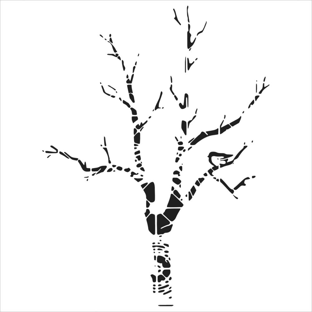 Crafter\'s Workshop Template 6x6 - Shadow Tree - Chocolate Baroque