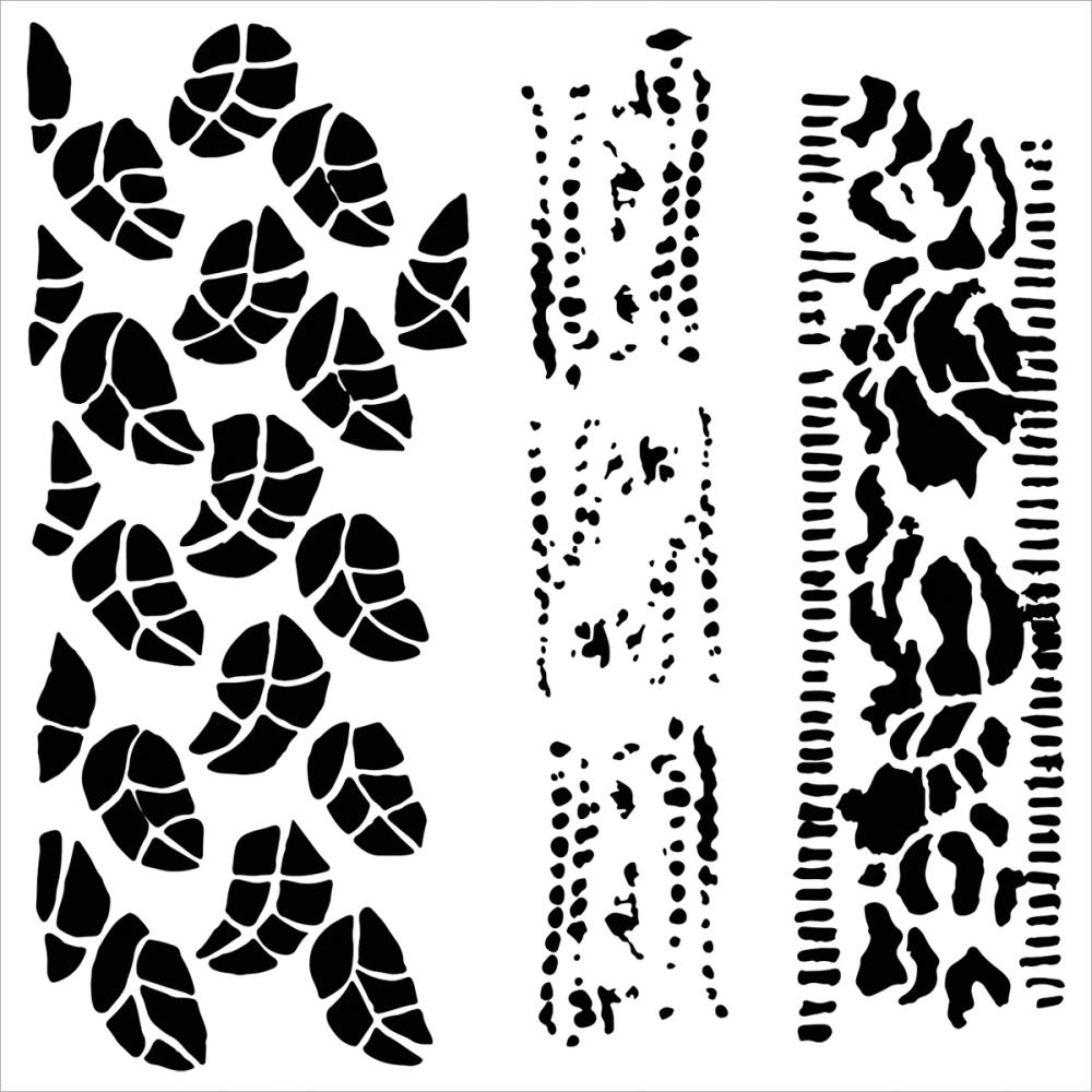 Crafter\'s Workshop Template 6x6 - Chlorophyll - Chocolate Baroque