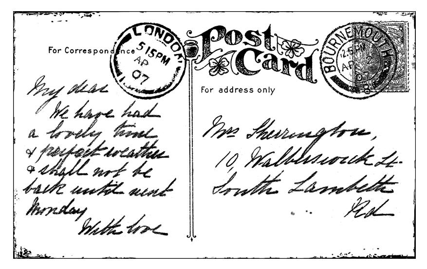 Crafty Individuals - A Vintage Postcard