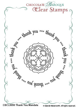 thank you mandala duo clear stamps chocolate baroque