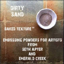 Seth Apter Baked Texture Embossing Powder - Dirty Sand