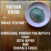 Seth Apter Baked Texture Embossing Powder - Patina