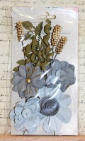 Little Birdie Flowers - Camila Grey Sky 16pcs