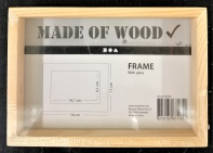 Double Side Wood Photo Frame with glass