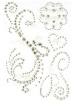 Magnolia Lane Collection - Bling Flourishes with Pearls