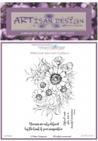 Artisan Design - Aster Vine unmounted rubber stamp set A6
