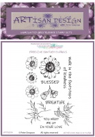 Artisan Design - Aster Vine Build a Flora unmounted rubber stamp set A6