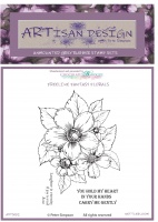 Artisan Design - Nettlebloom unmounted rubber stamp set A6