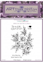 Artisan Design - Creeper Rose unmounted rubber stamp set A6