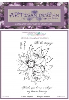 Artisan Design - Star Lily unmounted rubber stamp set A6