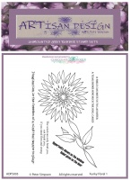 Artisan Design - Funky Floral 1 unmounted rubber stamp set A6