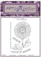 Artisan Design - Funky Floral 4 unmounted rubber stamp set A6