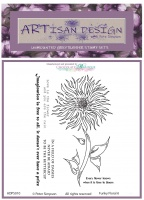 Artisan Design - Funky Floral 6 unmounted rubber stamp set A6