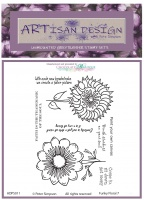Artisan Design - Funky Floral 7 unmounted rubber stamp set A6