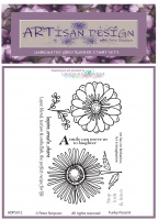 Artisan Design - Funky Floral 8 unmounted rubber stamp set A6