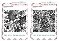 Big Bold Backgrounds Floral Damask/Leafy Brocade Multi-buy Rubber stamps