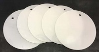 Chocolate Baroque Circular Acrylic Tags - Set of 5