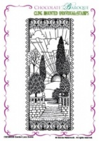 Garden Lace Scene cling mounted rubber stamp