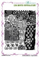 Klimt Panel cling mounted rubber stamp